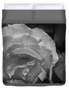 Rose In Black And White Duvet Cover by Kelly Hazel