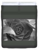 Rose In Black Duvet Cover