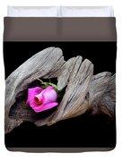 Rose In Driftwood 2 Duvet Cover