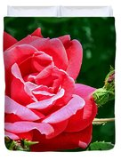 Rose Is Its Name Duvet Cover