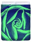Rose Mint Duvet Cover