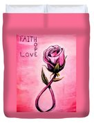 Rose Of Hope Duvet Cover