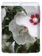 Rose Of Sharon And Bee Duvet Cover