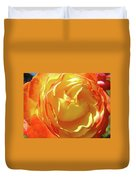 Rose Orange Yellow Roses Floral Art Print Nature Baslee Troutman Duvet Cover