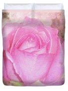 Enjoy A Rose Soft Pastel Duvet Cover