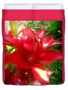 Rose Pink Lily Duvet Cover
