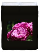 Rose Pink Purple Roses Flowers 1 Rose Garden Sunlit Flowers Baslee Troutman Duvet Cover