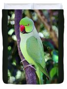 Rose-ringed Parakeet Duvet Cover