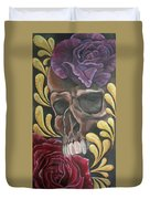Rose Skull  Duvet Cover