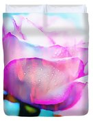 Rose Soft Pink Silked In Thick Paint Duvet Cover