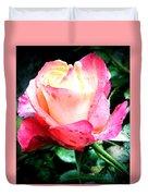 Rose Solitude  Duvet Cover