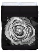 Rose Spiral Black And White Duvet Cover by James BO  Insogna