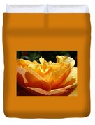 Rose Sunlit Orange Rose Garden 7 Rose Giclee Art Prints Baslee Troutman Duvet Cover