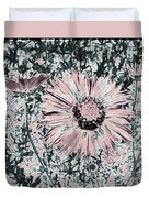 Rose Wine Daisies Duvet Cover