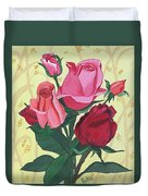 Rose With Roses Duvet Cover