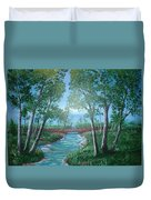 Roseanne And Dan Connor's River Bridge Duvet Cover