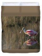 Roseate Spoonbill In Morning Light Duvet Cover