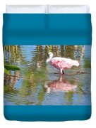 Roseate Spoonbill Young Adult Duvet Cover