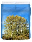 Rosehips And Cottonwoods Duvet Cover