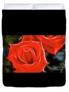 Roses-5814-fractal Duvet Cover