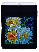 Roses Aglow Duvet Cover