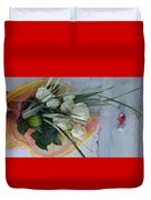 Roses And Chocolate  Duvet Cover