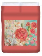 Roses And Flowers Duvet Cover