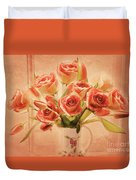 Roses And Tulips Duvet Cover