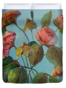 Roses And Wildflowers Duvet Cover