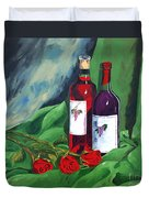 Roses And Wine Duvet Cover