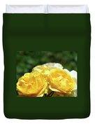 Roses Art Prints Canvas Sunlit Yellow Rose Flowers Baslee Troutman Duvet Cover