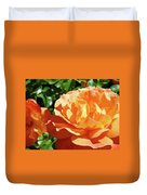 Roses Art Prints Orange Rose Flower 11 Giclee Prints Baslee Troutman Duvet Cover