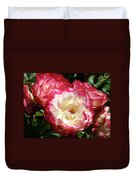 Roses Art Prints Pink White Rose Flowers Gifts Baslee Troutman Duvet Cover