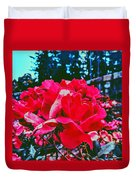 Roses At Mont Alto Duvet Cover