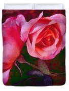 Roses Beautiful Pink Vegged Out Duvet Cover