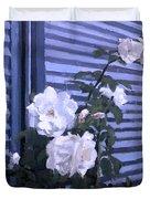 Roses De Lignes Bleues Duvet Cover