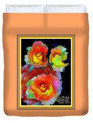 Roses For Anne Catus 1 No. 3 V A With Decorative Ornate Printed Frame. Duvet Cover
