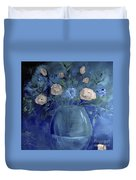 Roses For Him Painting Duvet Cover