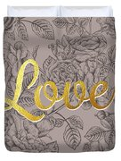 Roses For Love Duvet Cover by BONB Creative