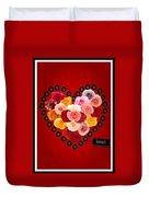 Roses For My Dear Love Duvet Cover