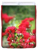 Roses Garden Spring Scene Duvet Cover