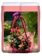 Roses Gift Bag Duvet Cover