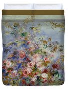 Roses In A Window Duvet Cover
