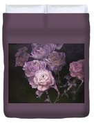 Roses In Mauve Duvet Cover