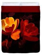 Roses In Molten Gold Art Duvet Cover