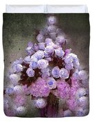 Roses Lilac And Shabby Pink Duvet Cover