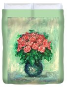 Roses Oil Painting  Duvet Cover