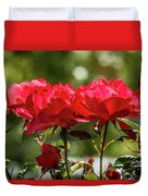 Roses On A Sunny Day Duvet Cover