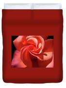 Roses Orange Rose Flower Spiral Artwork 4 Rose Garden Baslee Troutman Duvet Cover