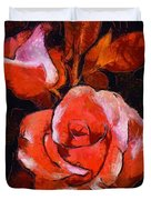 Roses Painted And Drawn Duvet Cover